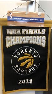 TORONTO RAPTORS 2019 NBA FINALS CHAMPIONS BANNER NEW TAG BASKETBALL WOOL CHAMPS