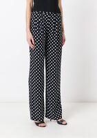 MICHAEL MICHAEL KORS  WOMEN'S Polka-dot crepe wide-leg pants 8UK;10UK.