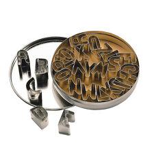 ++ 26 kleine Buchstaben-Keksausstecher aus Metall ++
