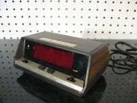 47198 Sears Roebuck Tradition Touchplate Red LED Digital Alarm Clock 1970s