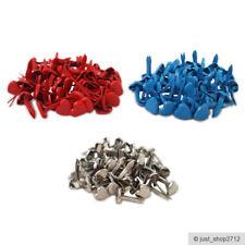 50 Musterklammern Herz Klammern Basteln Brads Weiß Rot Silber Taufe 10x5.5mm