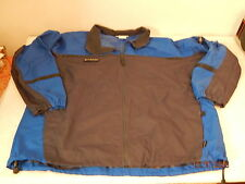 Mens Fall Spring Jacket Coat Windbreaker Size XXL Blue and Black COLUMBIA