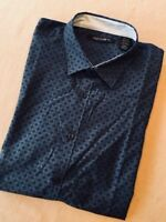 Axist Mens Slim Fit Woven Shirt Short Sleeved - Ensign Blue - XL
