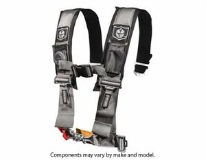 """Pro Armor 5 Point 3"""" Harness w/ Sewn in Pads (Silver)"""