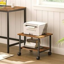 More details for hoobro printer stand 2-tier printer cart  printer rack with lockable wheels