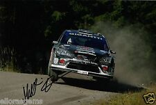 """RALLY Driver MATTI rantanen Firmato a Mano Foto FORD FOCUS RS WRC 08 12x8"""" al"""