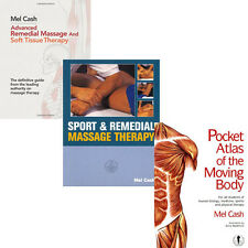 Mel Cash 3 Books Collection Set,Sport & Remedial Massage Therapy,Brand New