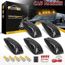 5xAmber 3528 158 LED 264159BK Cab Roof Running Marker Smoke Lights for GMC Chevy
