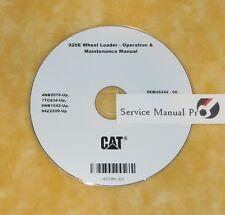 SEBU6242 CAT Caterpillar 926E Wheel Loader Operation Maintenance Manual CD