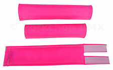 FLITE old school BMX padset foam racing pads BLANK BLANKS *MADE IN USA* HOT PINK