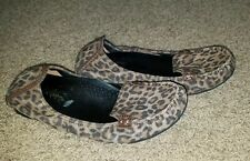 Cole Haan NikeAir Womens 5B Leopard Leather Ballet Flats Loafers Shoes