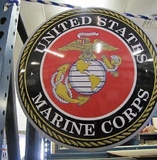 17'' United States Marines Emblem Dome Metal Sign -US Marine Corps XL U.S SELLER