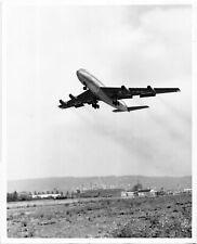 Boeing Airplane 707 First Flight Press Release B & W Photo 1954