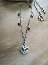 Designer Bettina Duncan heart natural black freshwater pearls necklace