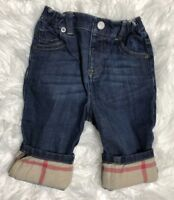 BURBERRY Children Baby Boys pants Size 12 Months Classic Check Excellent