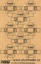 plusmodel 010 U.S. Feld C-Ration Kartons WW II, 8 Stück pro Bogen