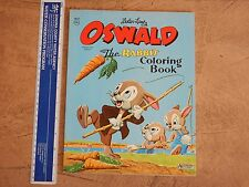 1962 WALTER LANTZ OSWALD THE RABBIT COLORING BOOK  HIGH GRADE UNUSED