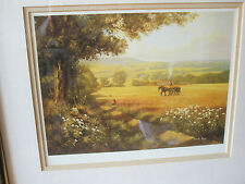 DONALD AYRES SIGNED LIMITED EDITION 175/850 PICTURE GOLDEN FIELDS COLLECTING HAY