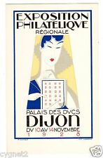 POSTCARD FRENCH 1928 DIJON PHILATELIC EXPOSITION ART DECO