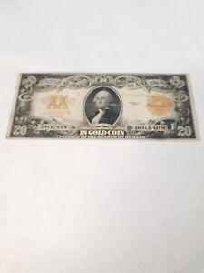 1922 20 dollar  gold certificate
