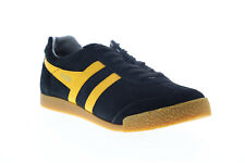 Gola Harrier Suede CMA192 Mens Black Lace Up Lifestyle Sneakers Shoes 7