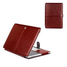 """Braun  für Apple Macbook Air 13,3"""" Leder hülle Schutzhülle Laptop Tasche Case"""