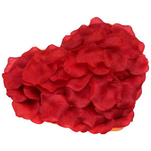Fashion Silk Rose Petals for Valentine Decoration Red Fabric Flower 1000pcs New