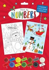 Kids Christmas Paint By Numbers - 2 Pictures 7 Paint Pots & Paintbrush