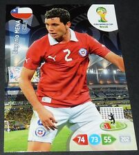 EUGENIO MENA CHILI CHILE FOOTBALL CARD PANINI FIFA WORLD CUP BRASIL 2014
