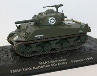 Altaya 1/72 Scale Diecast - M4A3 Sherman 756th Tank Battalion - France 1945