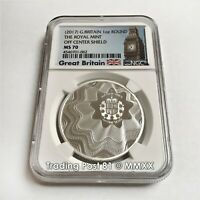 2020 GREAT BRITAIN 1 OZ SILVER 2PD NGC MS70 YEAR OF THE RAT FIRST RELEASES