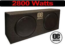 """2800 Watt Doppia 12"""" Subwoofer incorporato Amplificatore Active Sottile"""