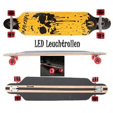 MARONAD ® Longboard Skateboard DROP THROUGH ABEC 11 LED Rollen Leuchtrollen DS