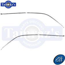 66-67 Chevy II / Nova 2 Door HDTP Drip Rail Edge Reveal Trim Moldings - Dynacorn