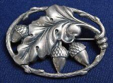 Designer Sterling Pressed Manufactured Hand Assembled Vintage Acorns Pin
