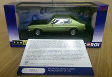 Corgi VA13310 Ford Capri Mk1 1600GT XLR Fern Green Met. Ltd Edition 0829 of 1400