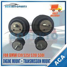 Fits 530i BMW E39 525i 528i ENGINE MOTOR MOUNT TRANSMISSION MOUNT 4/SET MOUNTS