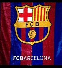 "FC Barcelona Luxury Plush Throw Queen Size Blanket 79""x94"""