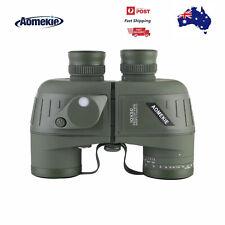 10X50 Binoculars Marine Military BAK4 Prism Waterproof With Compass Rangefinder