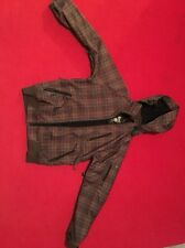 Mens Empyre Brown Real Blue Plaid Snowboard Jacket Coat