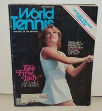 World Tennis Magazine - Chris Evert Cover - January 1978 - FREE Shipping