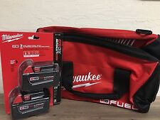 NEW IN PACKAGE + BAG 18V Milwaukee 48-11-1850 5.0 AH Batteries M18 48-11-1852