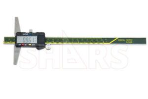 "SHARS 0- 8"" 200MM CALIPER DIGITAL DEPTH GAGE GAUGE NEW P]"
