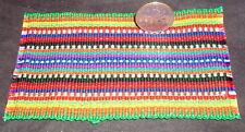 "Dollhouse Miniature Green Backstrap Guatemala Blanket Rug @ 3X5"" Southwest #001"