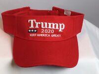 Red TRUMP 2020 MAGA Keep America Great Visor Donald Trump - FREE SHIPPING!