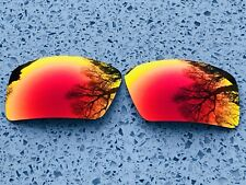 NEW CUSTOM FIRE RUBY RED MIRROR REPLACEMENT OAKLEY EYEPATCH 2 LENSES