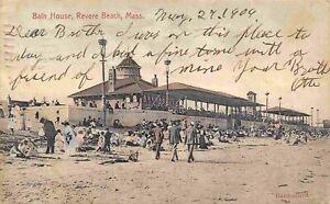 Bath House Revere Beach Massachusetts 1906 postcard