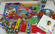 12pk DISNEY JUNIOR MICKEY MOUSE Kids Birthday Party Supply Pack and Decorations