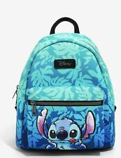 Loungefly Disney Lilo & Stitch Mini Backpack Tropical Leaves Pattern Bag