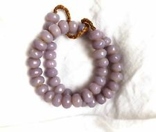 """Vintage Lilac Glass Faceted Rondelle Beads from Nepal . Approx 15 x 11 mm 22"""""""